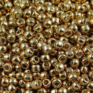 TOHO Round 11/0 Permanent Finish &shy- Galvanized Old Gold (10g)