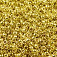 TOHO Round 8/0 Permanent Finish &shy- Galvanized Yellow Gold (10g)