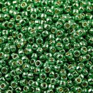 TOHO Round 8/0 Permanent Finish &shy- Galvanized Spring Green (10g)