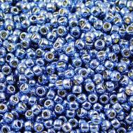 TOHO Round 11/0 Permanent Finish &shy- Galvanized Denim Blue (10g)