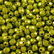 Koraliki Fire Polish ze szkła 3mm Saturated Metallic Lime Punch (40szt)