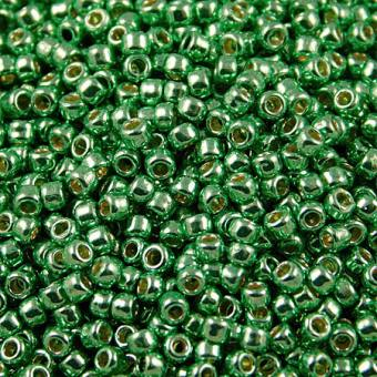 TOHO Round 8/0 Permanent Finish - Galvanized Spring Green (10g)