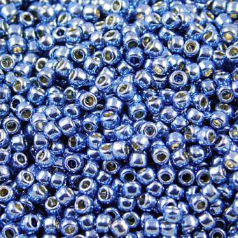 TOHO Round 11/0 Permanent Finish - Galvanized Denim Blue (10g)