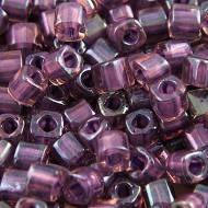 TOHO Cube 3mm Inside&shy-Color Rainbow Rosaline/Opaque Purple Lined (1op)