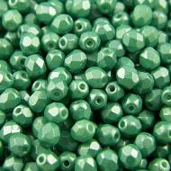 Koraliki Fire Polish ze szkła 4mm Pearl Shine Light Green (40szt)